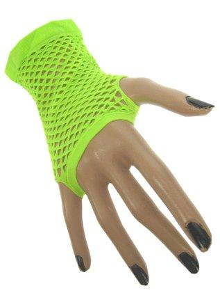 Nethandschoen kort vingerloos fluor groen 1