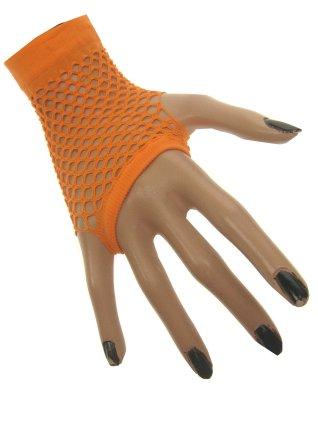 Nethandschoen kort vingerloos fluor oranje 1