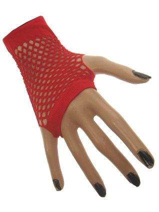 Nethandschoen kort vingerloos rood 1