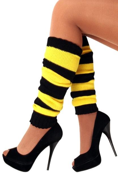 Beenwarmers zwart/geel 1