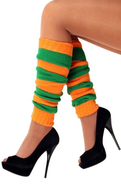 Beenwarmers oranje/groen 1