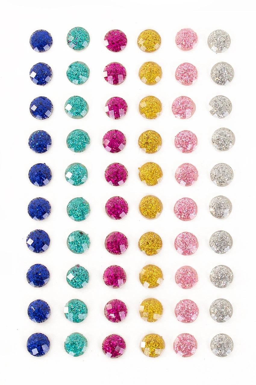 PXP Professional Colours Decoratiestickers rondje glitter 60 stuks assorti 1