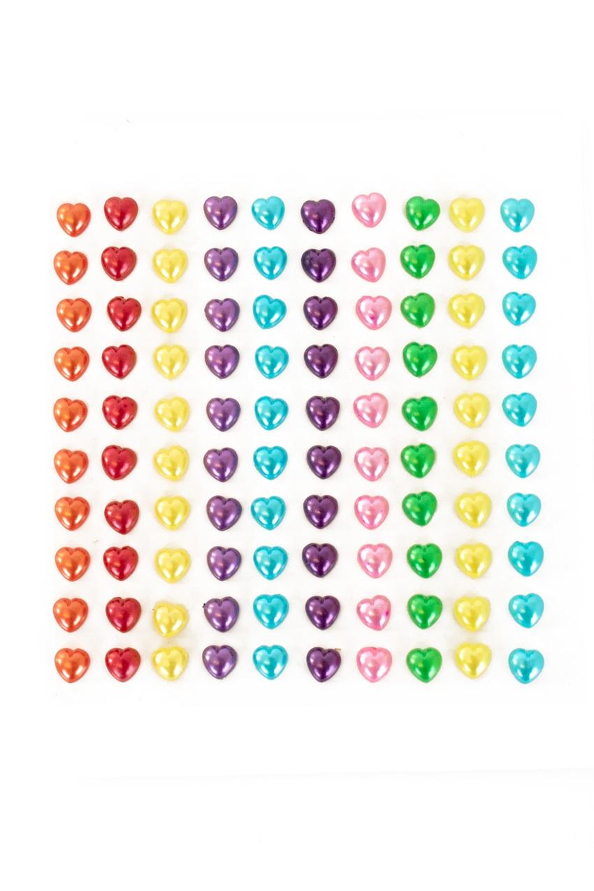 PXP Professional Colours Decoratiestickers hartje pearl 100 stuks assorti 1