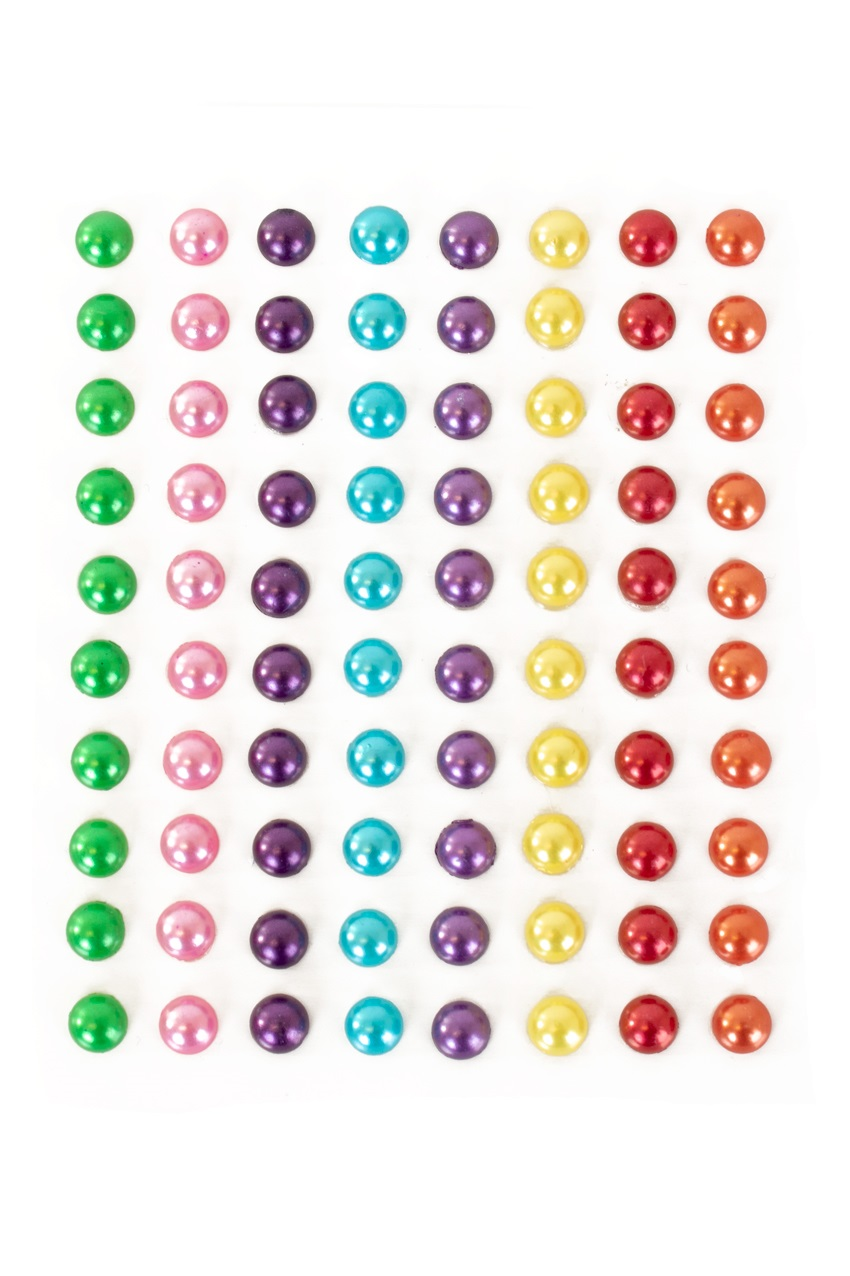 PXP Professional Colours Decoratiestickers rondje pearl 80 stuks assorti 1
