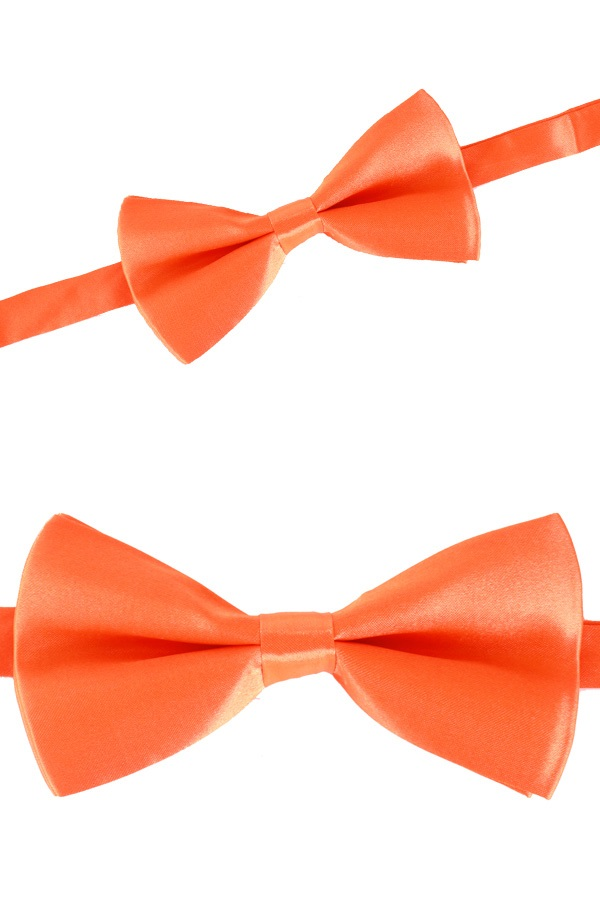 Luxe strik satijn oranje 12 x 6