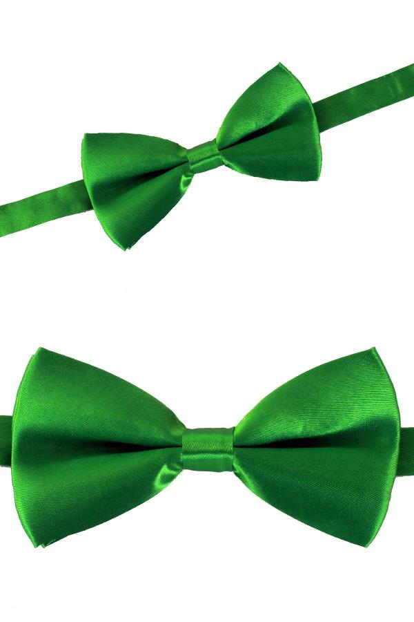 Luxe strik satijn groen 12 x 6