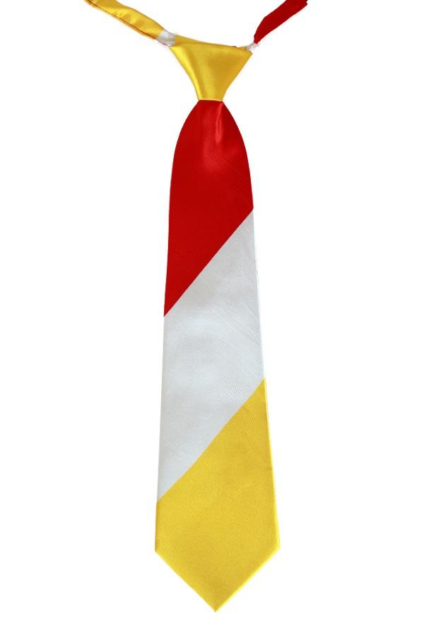 Stropdas rood/wit/geel 1