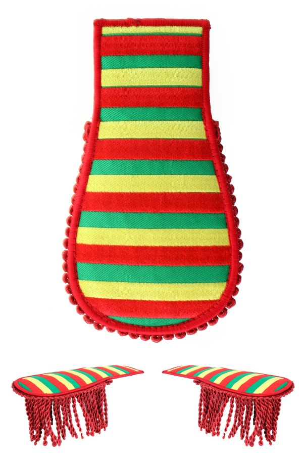 Set schouder epaulette rood-geel-groen gestreept limburg