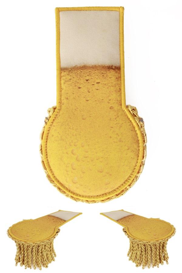 Set schouder epaulette bier print 1