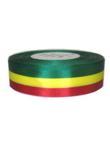 Medaille lint rood/geel/groen 25 meter op rol 25 mm 1