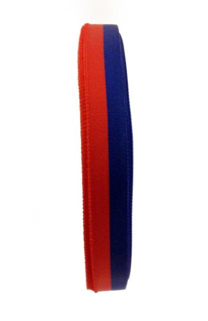 Medaille lint rood/blauw 25 meter op rol 10 mm 1
