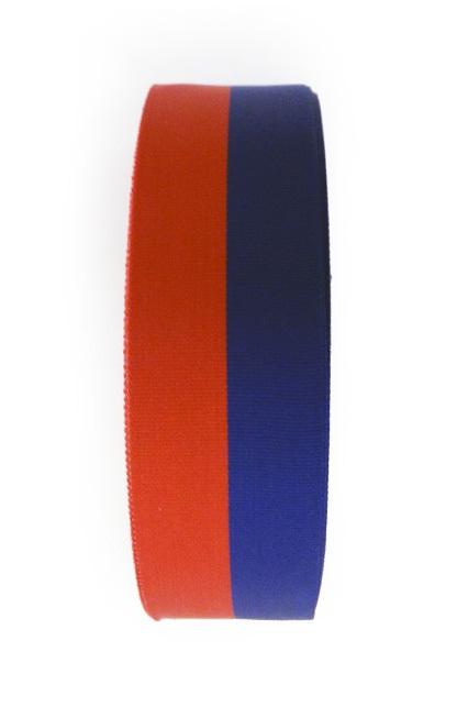 Medaille lint rood/blauw 25 meter op rol 25 mm 1