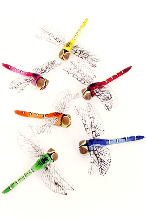 Libelles 6 assorti 8 cm