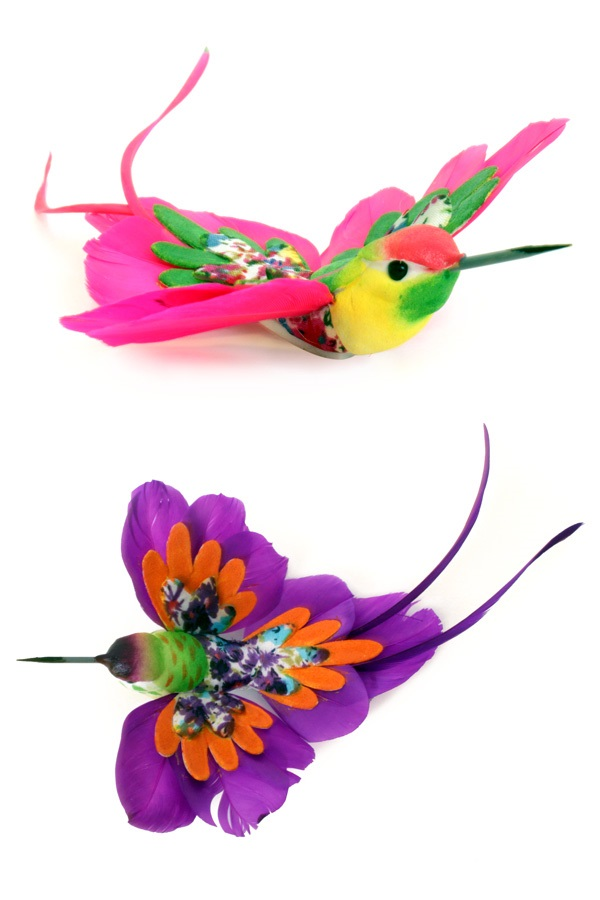 Kolibrie multi colour 2 assorti 20 cm