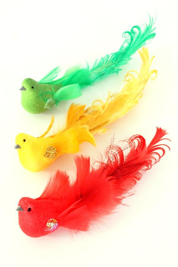 Mus rood/geel/groen glitter 3 assorti 7,5 cm