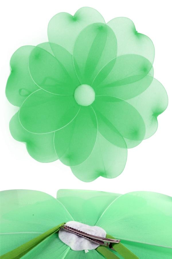 Bloem groen deco dia 55 cm met clip 1
