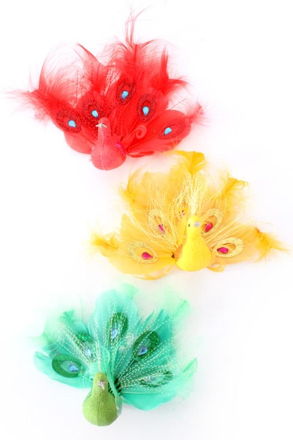 Pauw rood/geel/groen 10 cm
