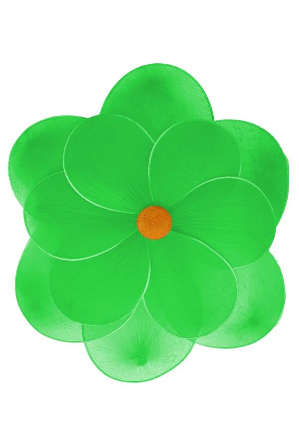 Bloem groen deco dia 30 cm met clip 1