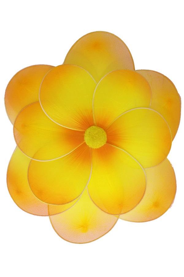 Bloem geel deco dia 30 cm met clip 1