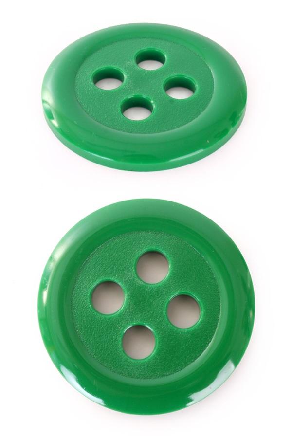 Knopen kunststof groen 6cm 1