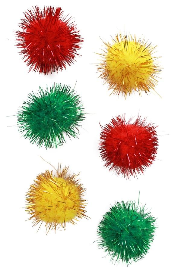 Pom Pom glitter 4 cm