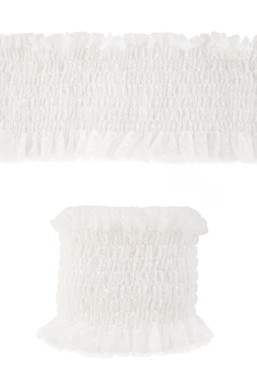 Luxe elastische kant breed wit 1,20m 1