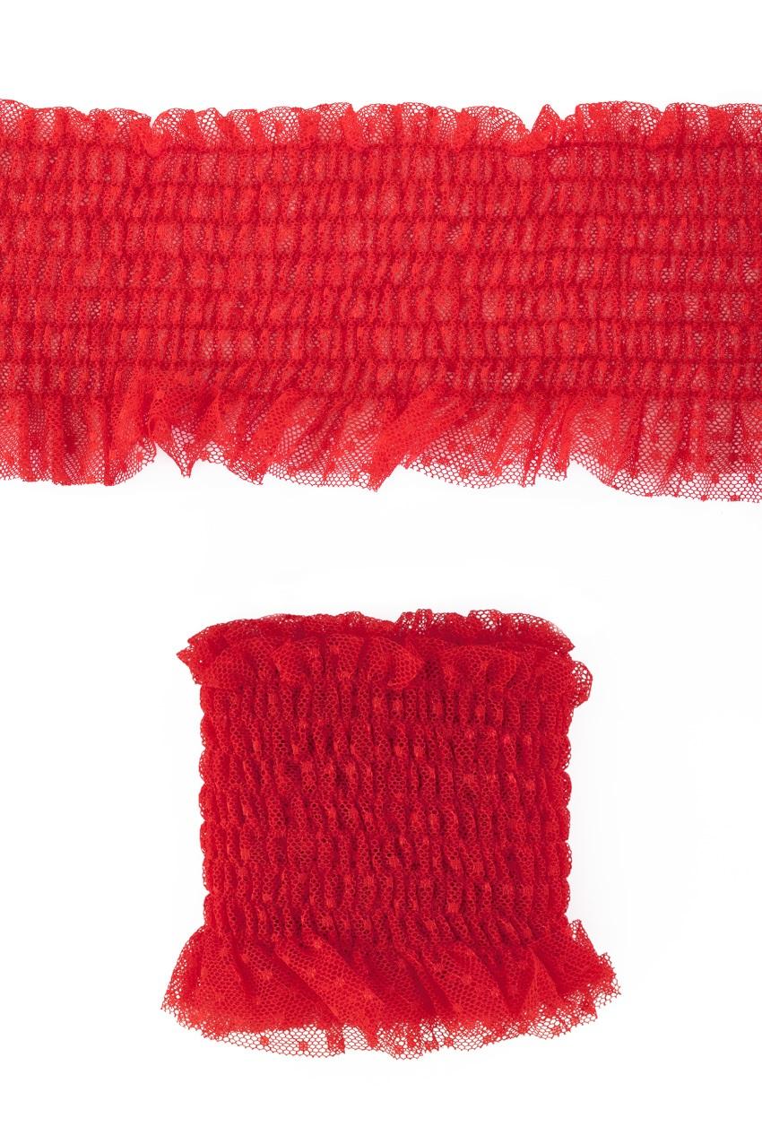 Luxe elastische kant breed rood 1,20m 1