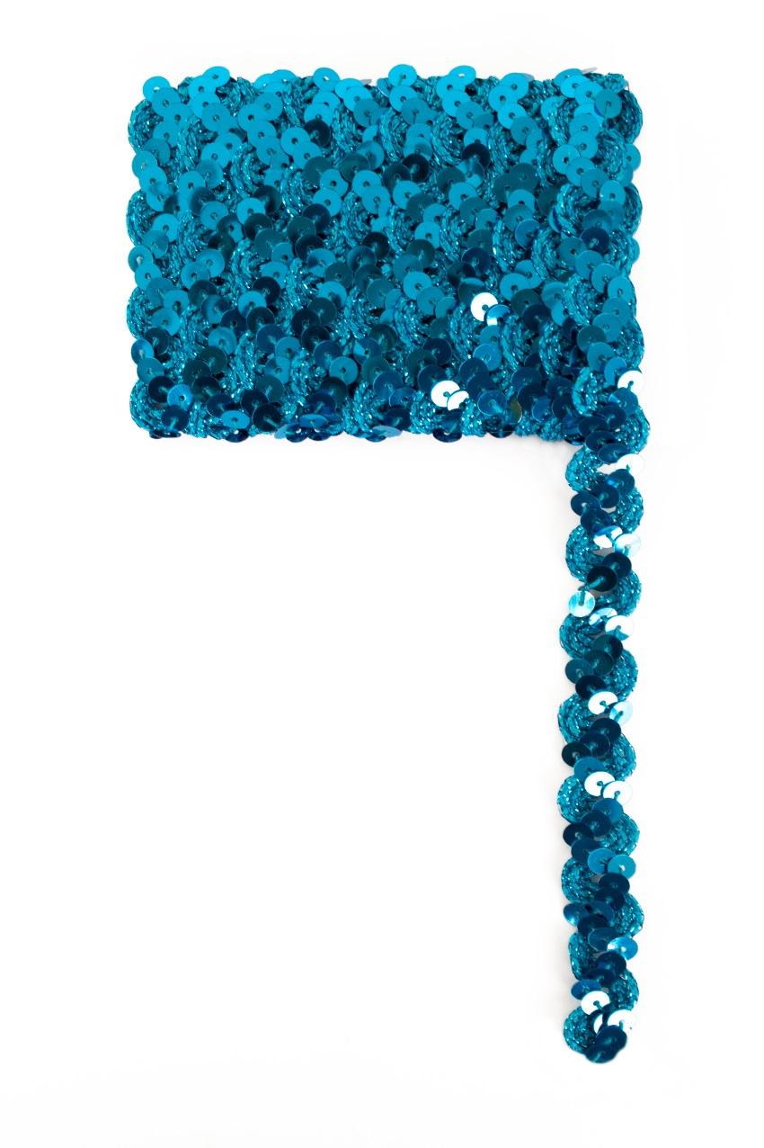 Paillettenband golvend lturquoise 3m 1
