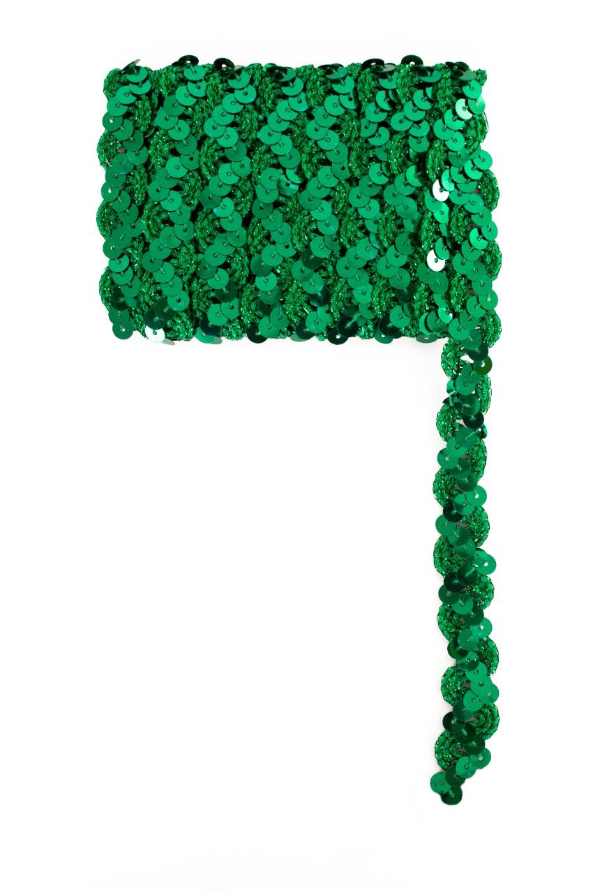 Paillettenband golvend groen 3m 1