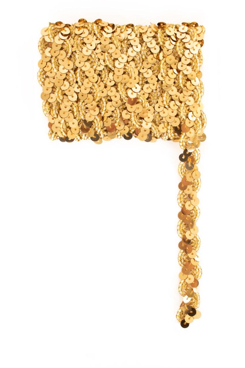 Paillettenband golvend goud 3m 1