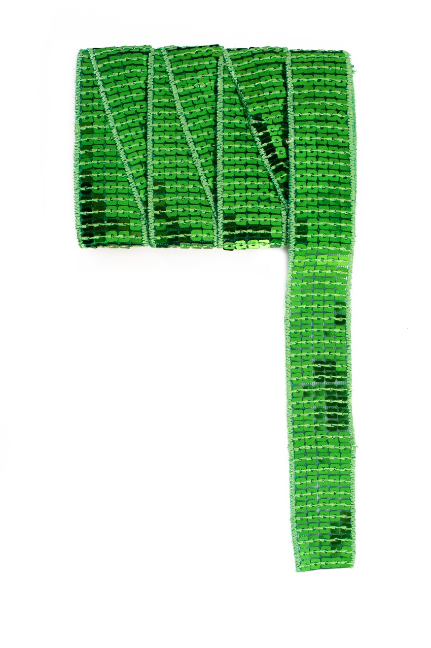 Paillettenband recht lime 3m 1