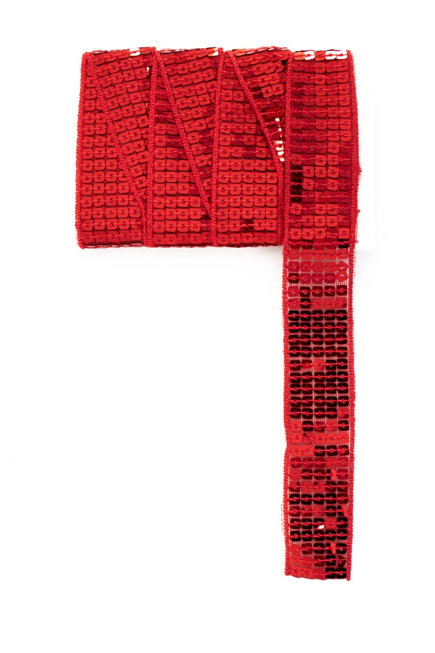 Paillettenband recht rood 3m 1