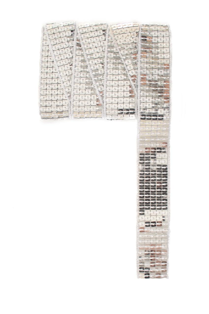 Paillettenband recht zilver 3m 1