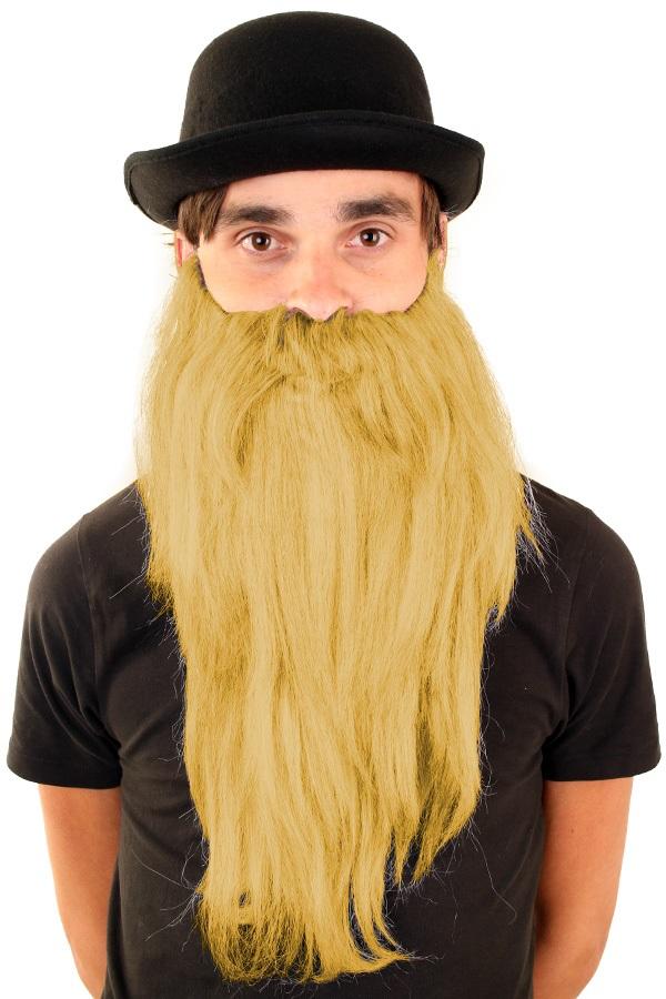 Baard met snor blond steil haar