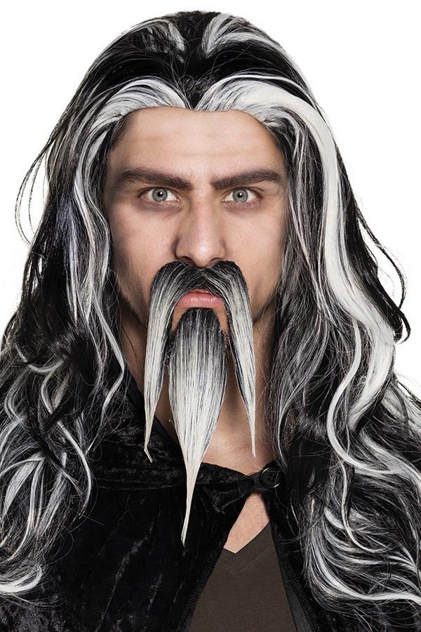 Sik met snor Wizard grijs 1