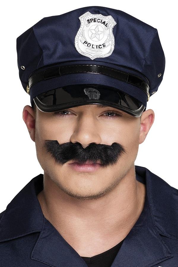Snor politie zwart  1