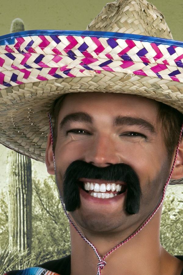 Snor Mexican zwart 1