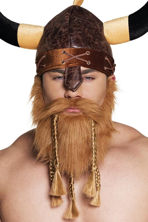 Baard met snor viking bruin