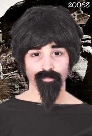 Snor met baard professor zwart 1