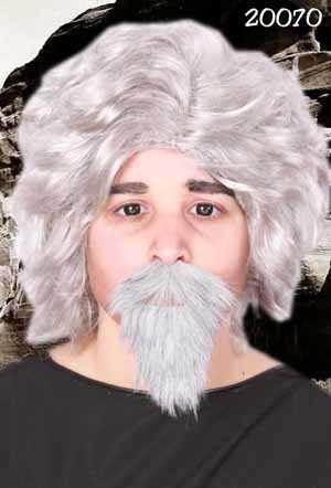 Snor met baard professor grijs 1