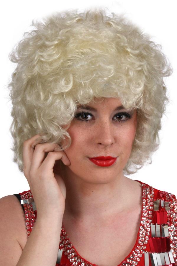 Pruik hippy of clown blond 1