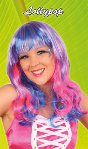 Pruik Dip-dye Lollypop 1