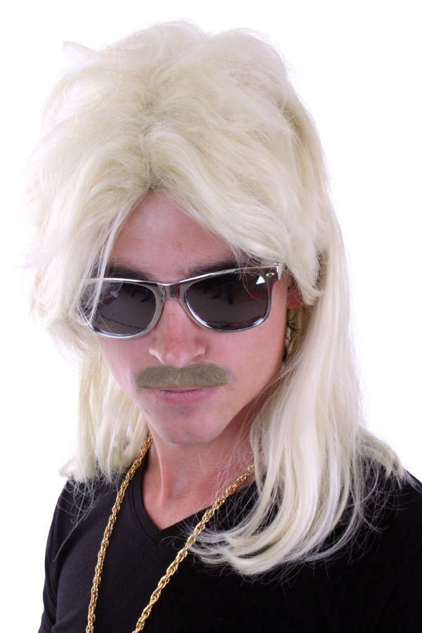 Herenpruik met matje blond 1
