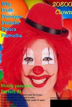 Clownspruik rood 1