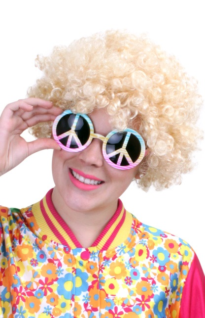 Pruik hippy blond 1