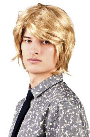 Pruik spike blond 1