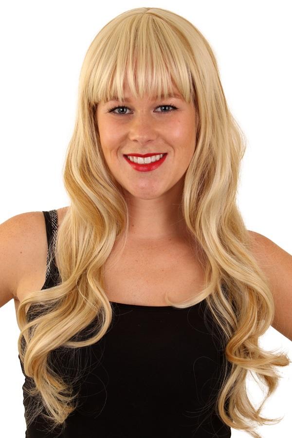 Pruik Mila blond met highlights 1