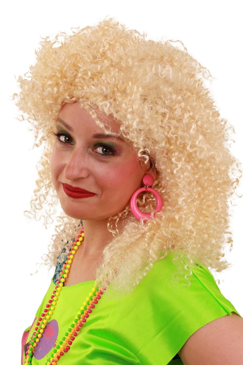 Pruik Nicky blond krul 1
