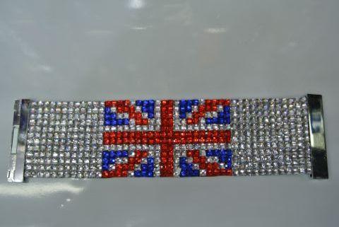 Armband UK steentjes 19×5 cm 1