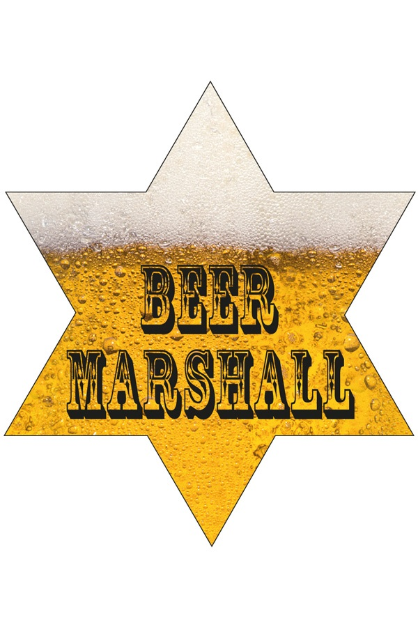 Sheriffster bier Marshall met lampjes 1